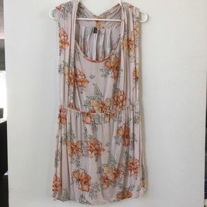 💐🍊 Free People orange flower patterned dress